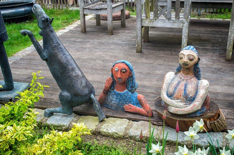 Ceramic dolls and pottery stock photos