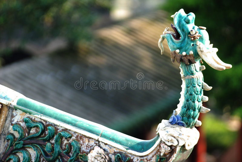 Ceramic dragon head stock photos