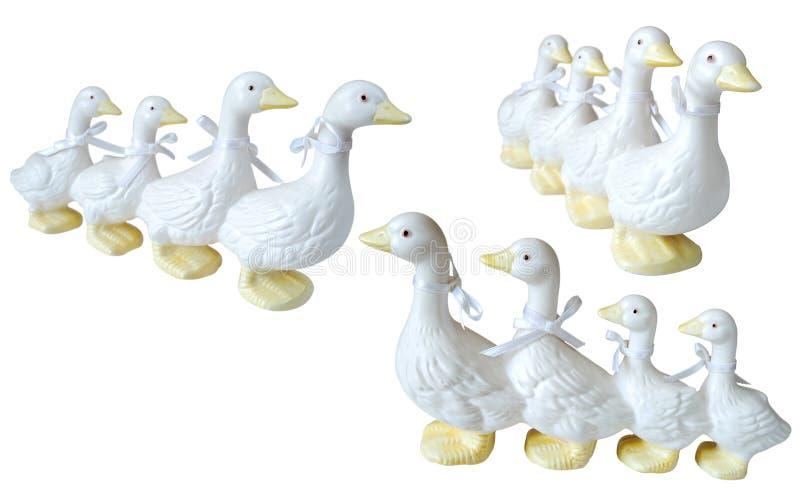 Ceramic duck knick knacks stock photography