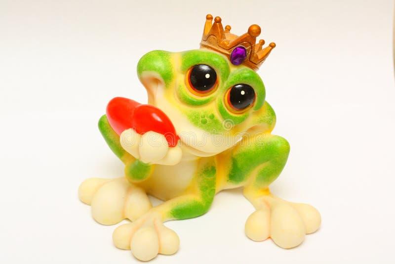 Ceramic frog stock photo