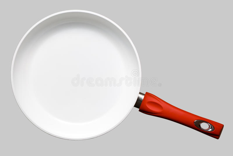 download ceramic frying pan stock photo image of close metal