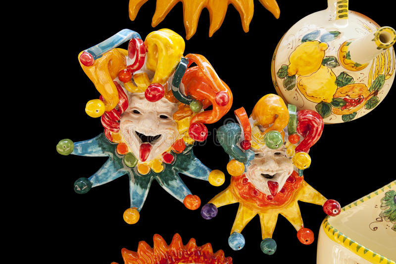 Download Ceramic Italian Clowns stock photo. Image of jesters - 22995760
