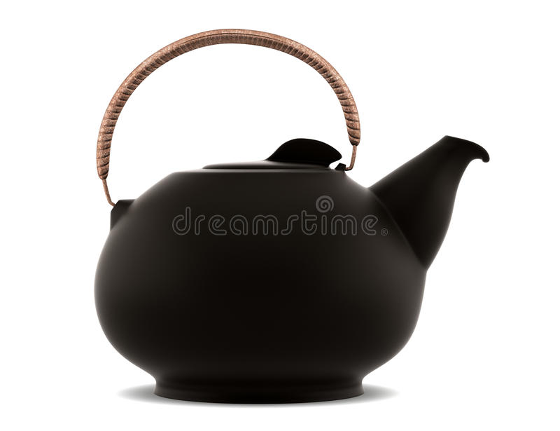 Download Ceramic Japanese Teapot Isolated On White Stock Illustration - Illustration: 17260229