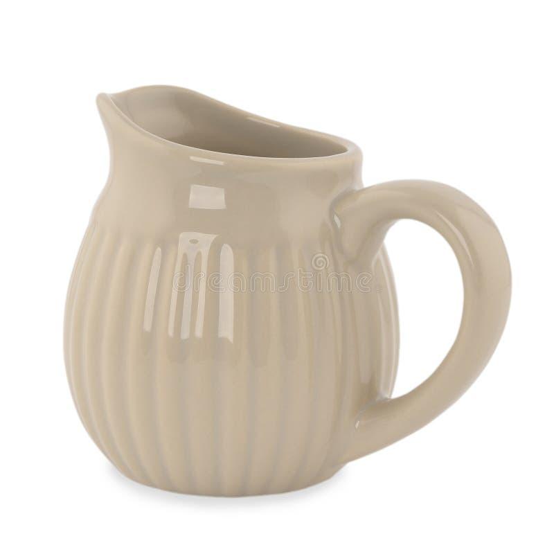 Ceramic jug. Isolated on white background stock image