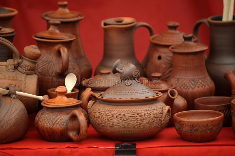 Download Ceramic jugs stock photo. Image of container, cups, handle - 26085588