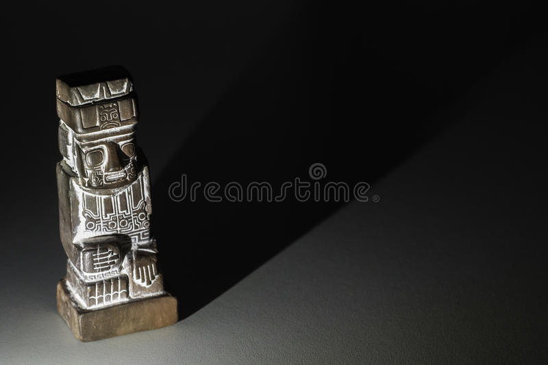 Ceramic monolith statue of Tiwanaku culture stock photography