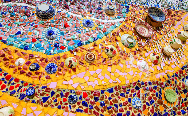 Ceramic Mosaic. At the Pha Son Keaw temple , the location is Phetchabun, Thailand stock images