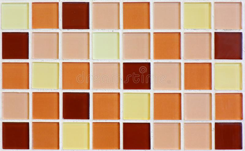 Ceramic mosaic using on wall background.  royalty free stock photo