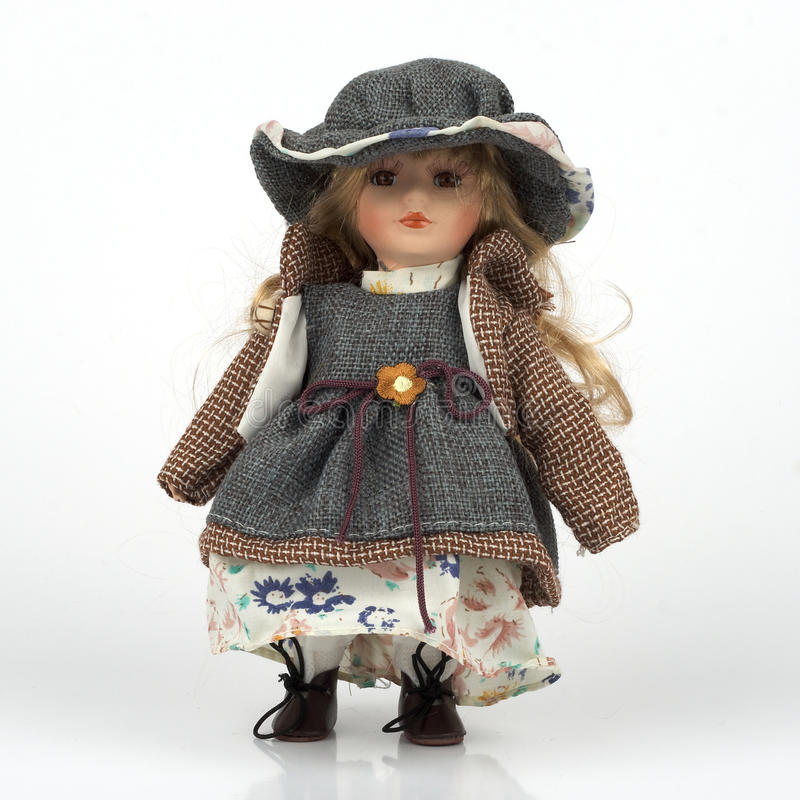 Download Ceramic old dolly stock image. Image of baby, cute, dress - 9539767