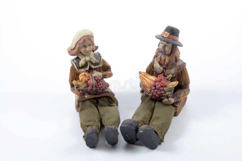 Ceramic Pilgrims stock photos