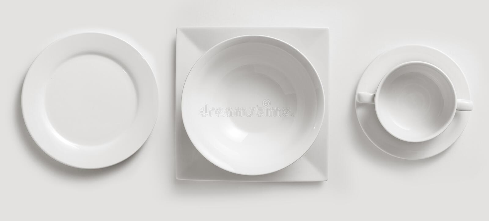 Ceramic Plates & Cup Royalty Free Stock Photo