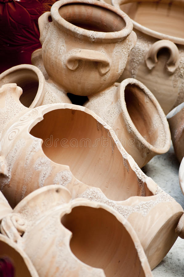 Ceramic pot royalty free stock photo