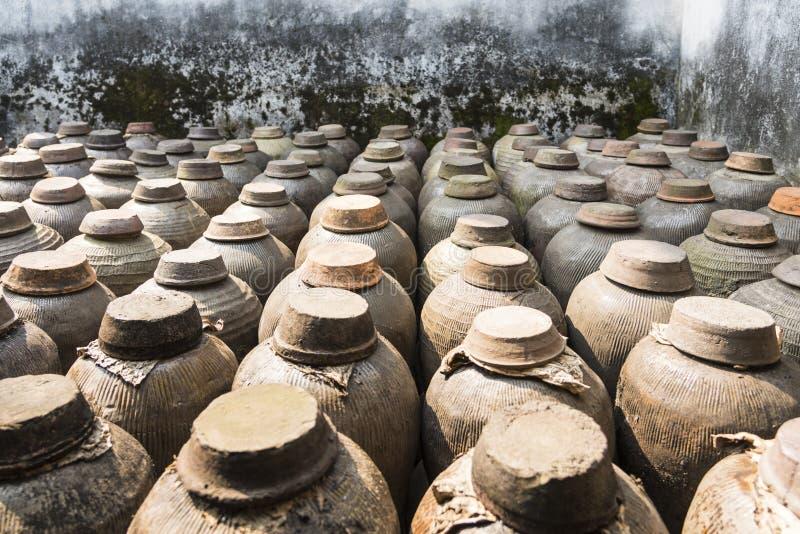 The ceramic pot of wine royalty free stock image