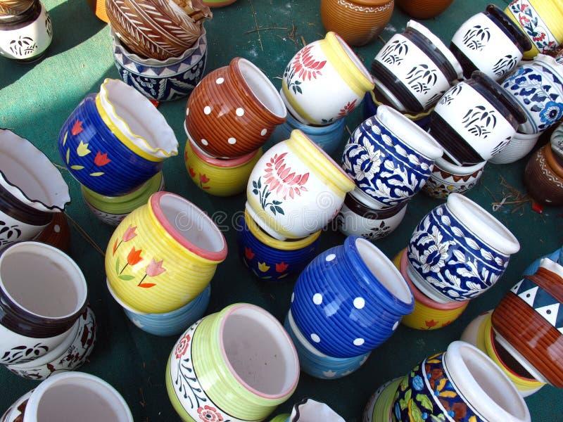 Download Ceramic Pots stock image. Image of display, shop, many - 17500191