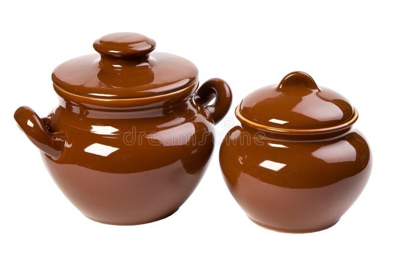 Download CERAMIC POTS stock image. Image of kitchen, pots, meat - 22465915