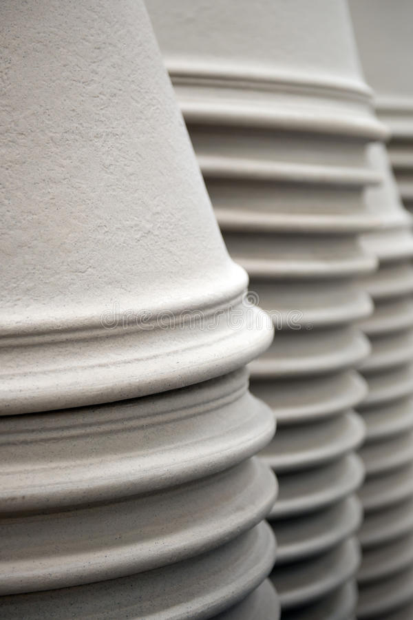 Ceramic pots in a stack royalty free stock images