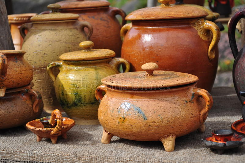 Download Ceramic pottery stock image. Image of earthenware, pots - 26529919
