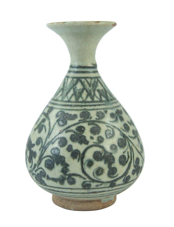 Ceramic pottery porcelain vase china style stock photo