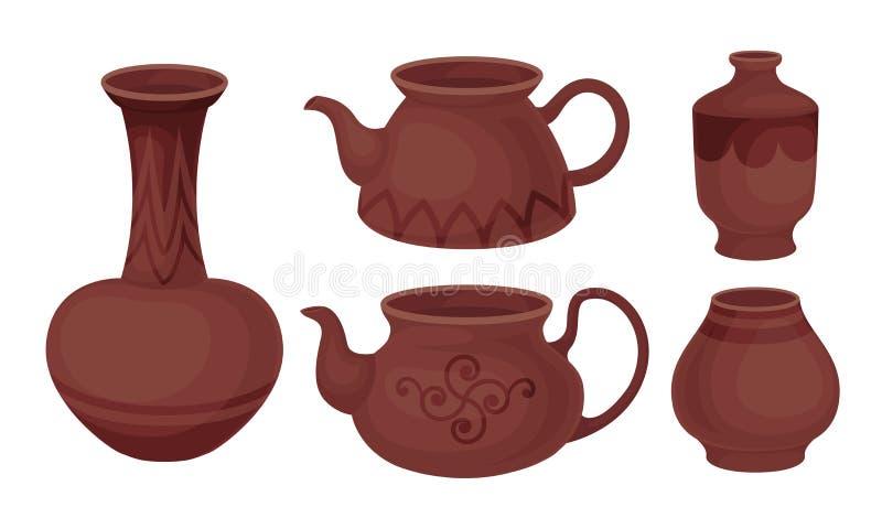 ceramic set Studio pottery clipart handmade ceramic set bowls kitchen utensils clip art ceramic plate teapot pottery bowl