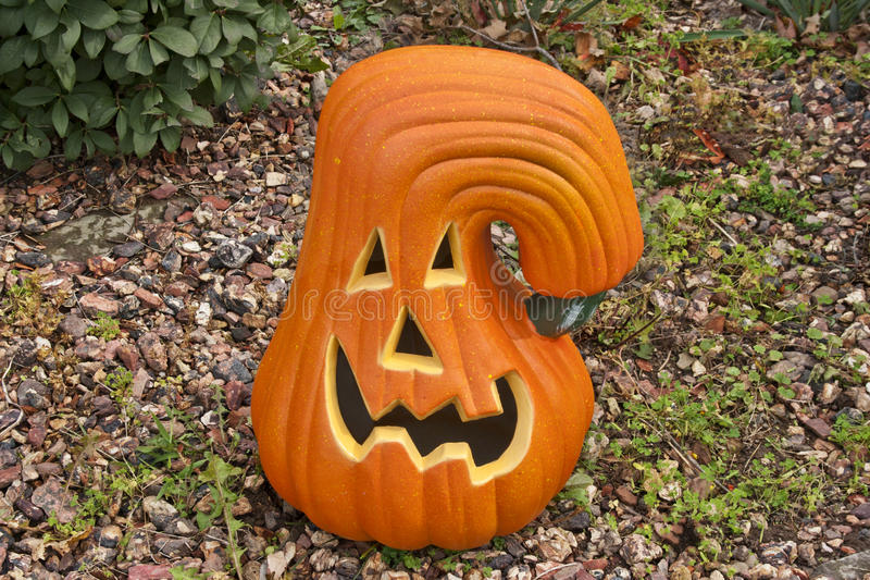 Download Ceramic Pumpkin stock photo. Image of smile, autumn, green - 29922228
