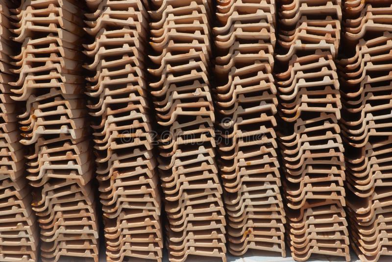 Ceramic roof . royalty free stock photo