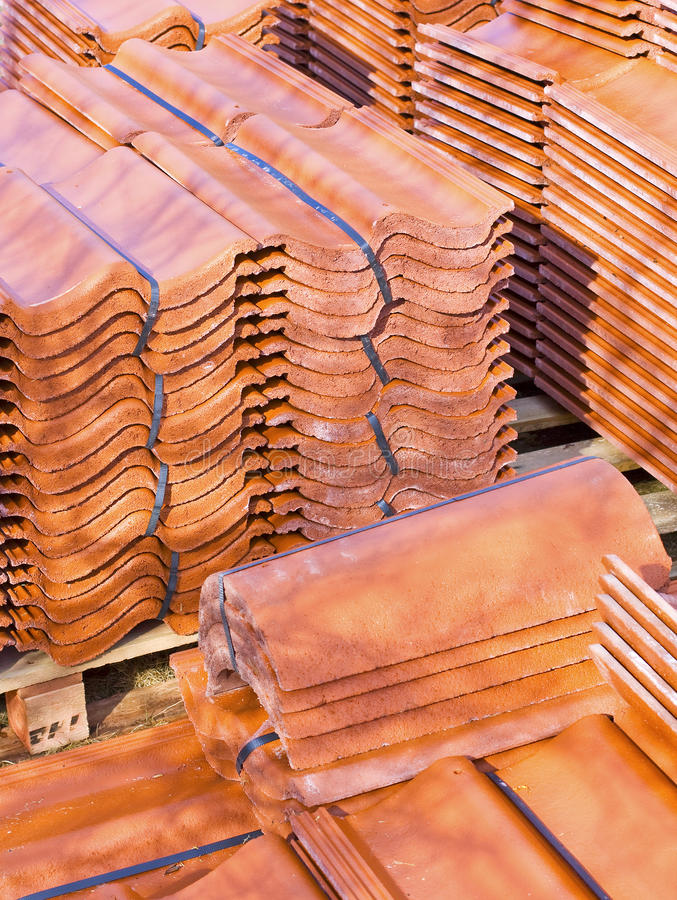 Delightful Download Ceramic Roof Tiles Stock Image. Image Of Stacked, Construction    19127353