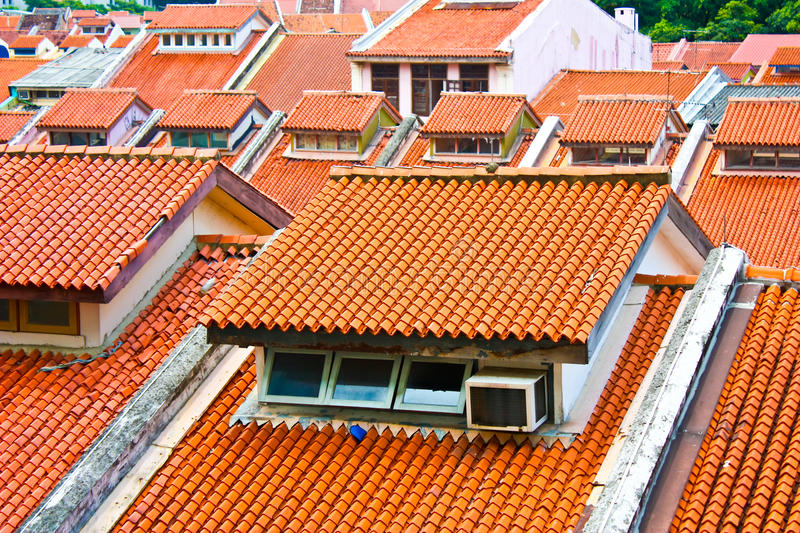 Ceramic roofs royalty free stock images