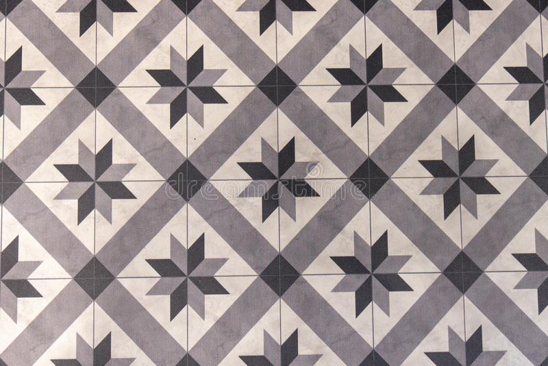 Ceramic square tiles traditional oriental patterns vintage Azulejo or Moroccan style stock images
