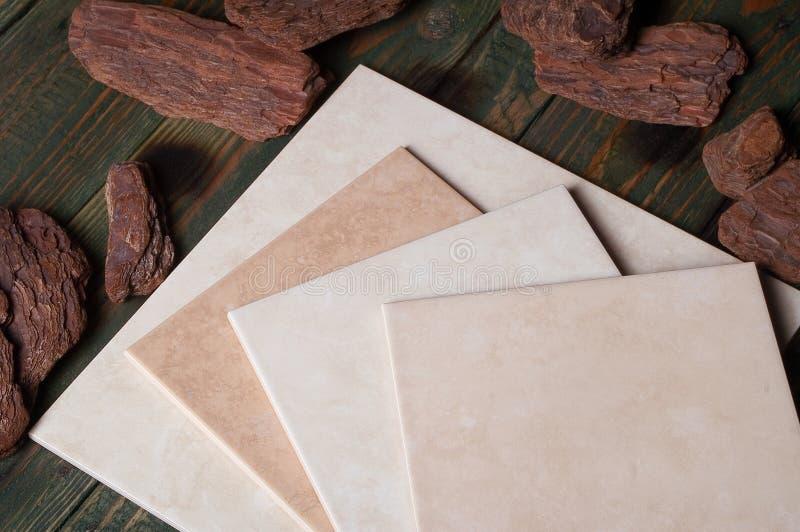 Ceramic tile. Still life concept, ceramic tile royalty free stock photo