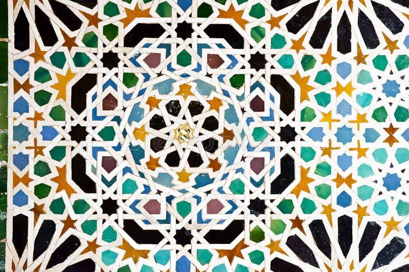 Ceramic tile. In ALhambra, Granada, Spain royalty free stock images