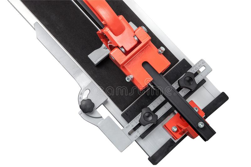 Ceramic tile cutter isolated on white royalty free stock photo