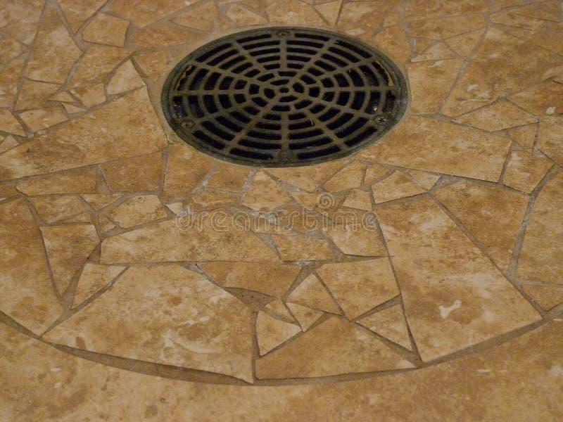 Ceramic tile drain interior stock images