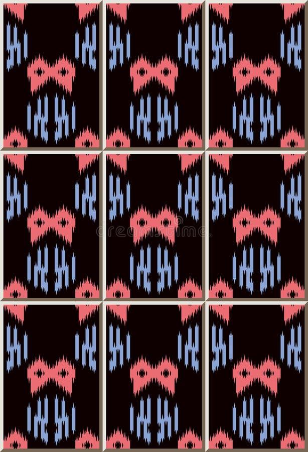 Ceramic tile pattern Sawtooth Edge Aboriginal Geometry. Oriental interior floor wall ornament elegant stylish design royalty free illustration