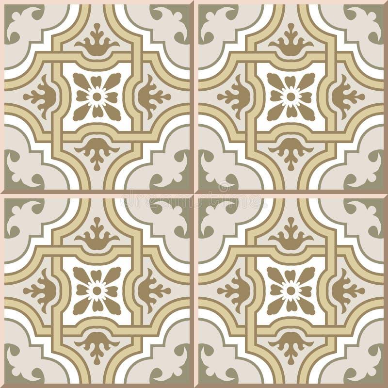 Ceramic Tile Pattern 373 Vintage Curve Cross Geometry Frame Flower ...