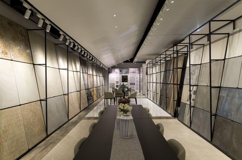 Ceramic tile showroom. Ceramic tile display in showroom stock photos