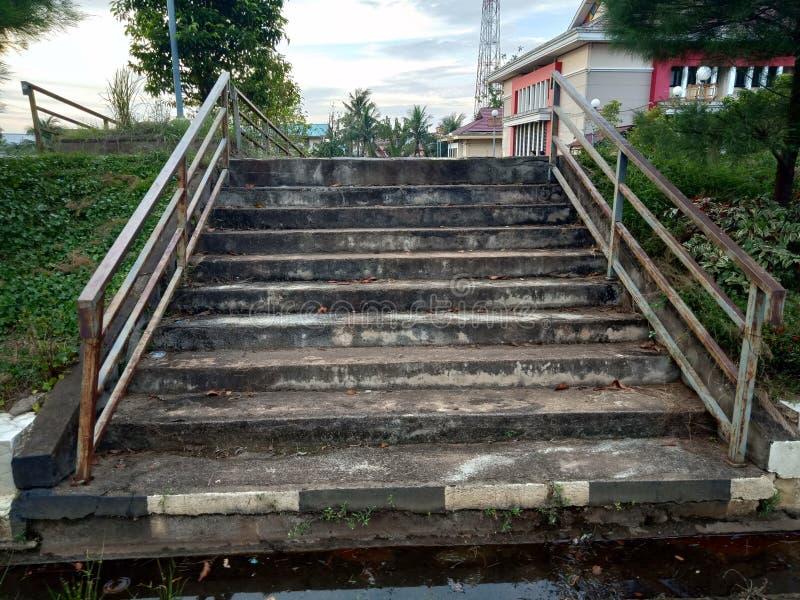 The ceramic tile staircase steps old, ceramic floor tiles wood pattern stock image