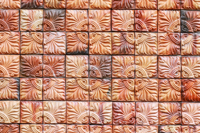 Ceramic tile wall. Pattern of ceramic tile wall stock photography