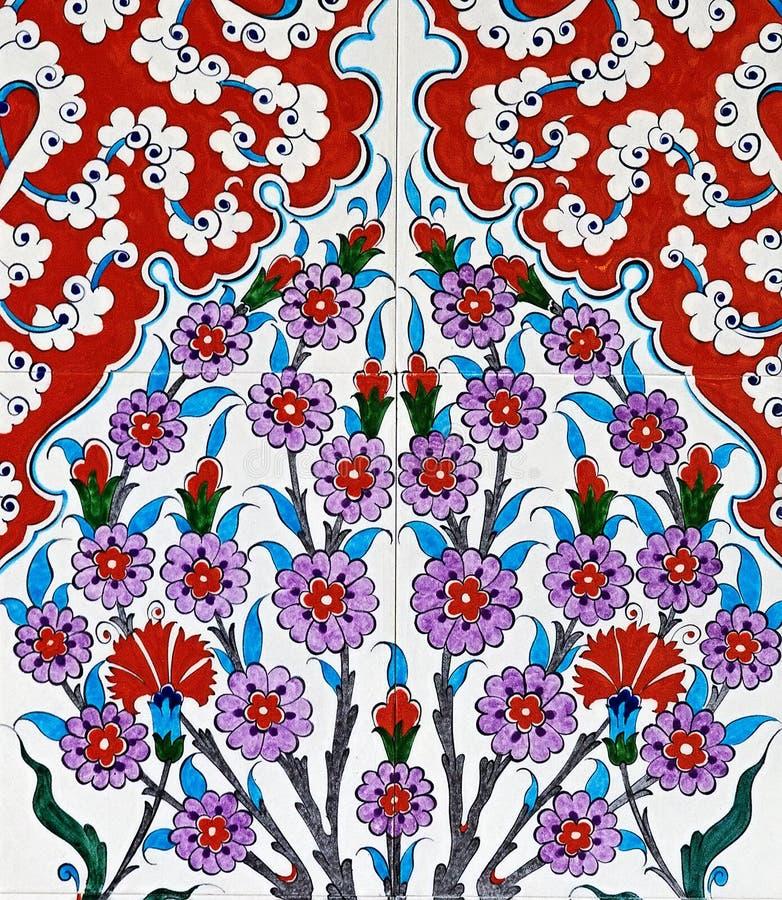 ceramic tiles floral oriental ornament ottoman traditional Islamic stile stock photos