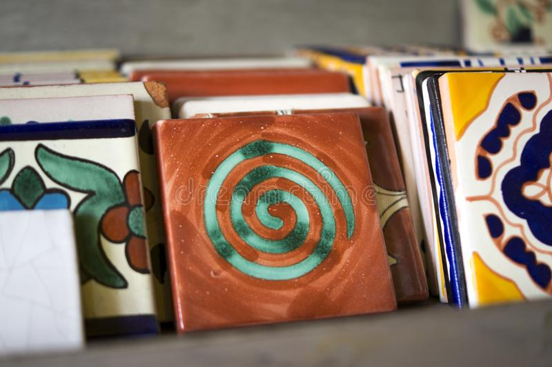 Ceramic Tiles In Mexico Stock Image Image Of Color - Colored ceramic tiles for sale