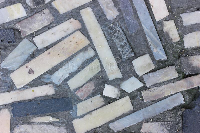 Ceramic tiles outside top view stock photography