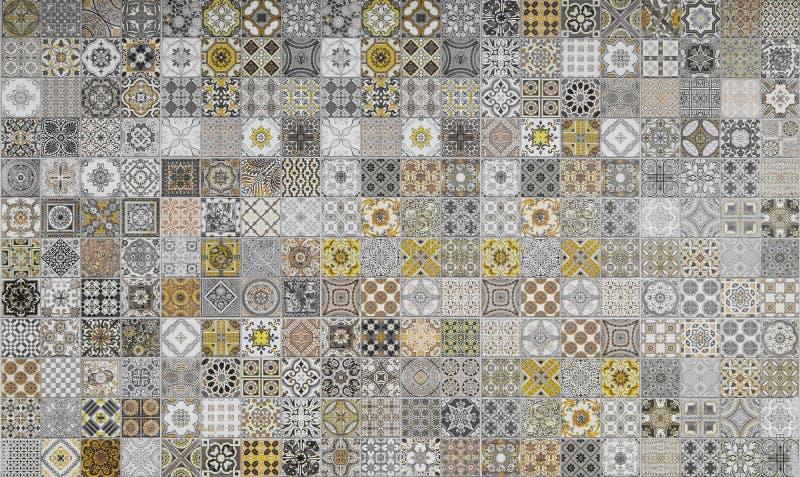 Ceramic tiles patterns stock illustration