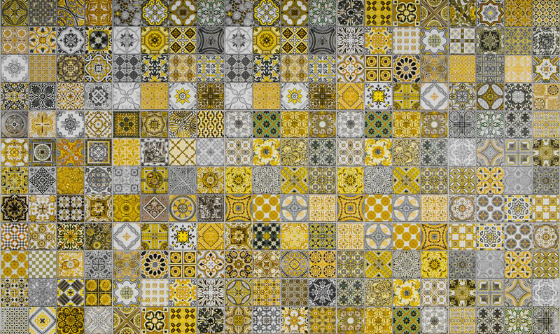 Ceramic tiles patterns from Portugal. royalty free stock photos