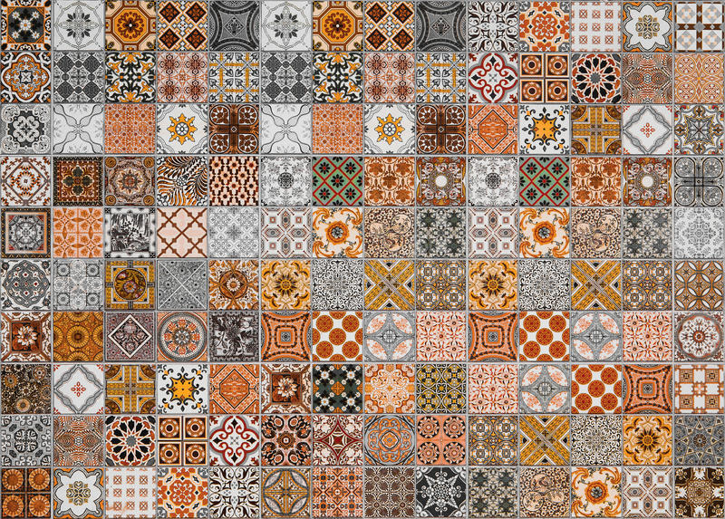 Ceramic tiles patterns from Portugal. Ceramic tiles patterns from Portugal for background stock illustration