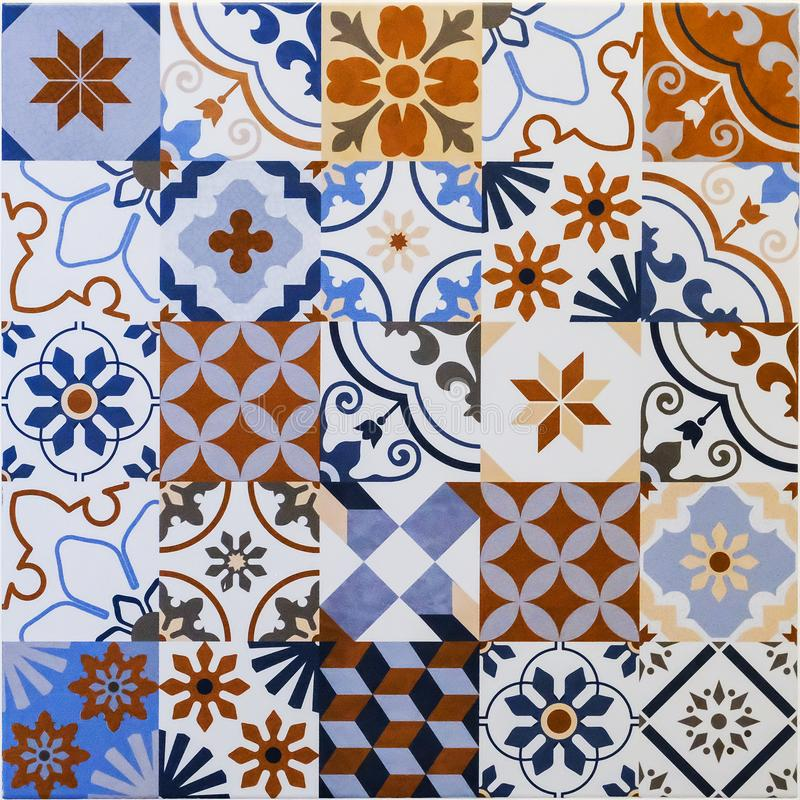 Ceramic tiles patterns royalty free stock photo