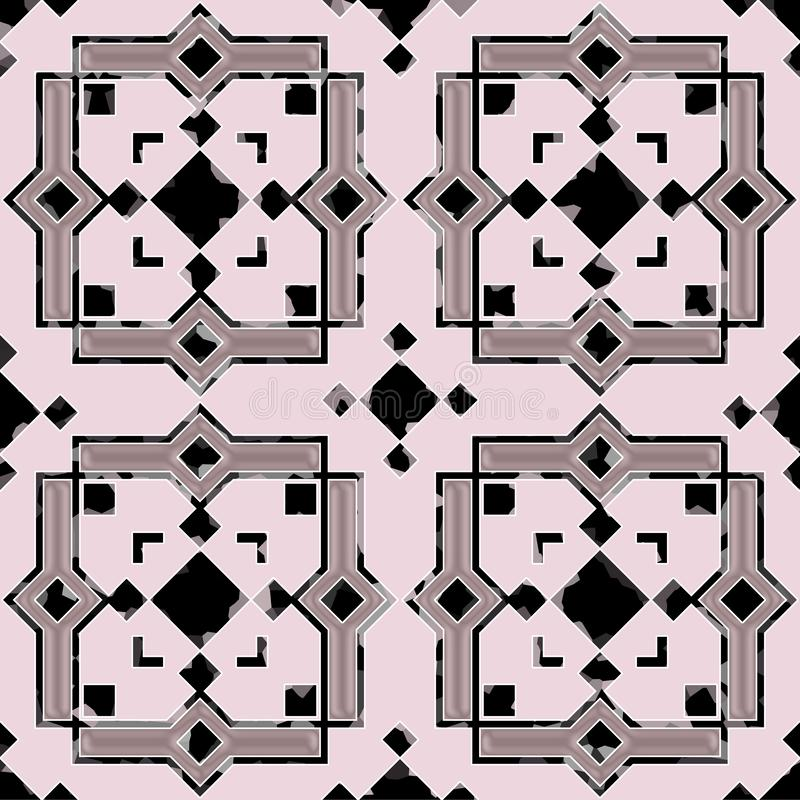 Ceramic tiles with seamless pattern in the Moroccan style. Illustration background vector illustration