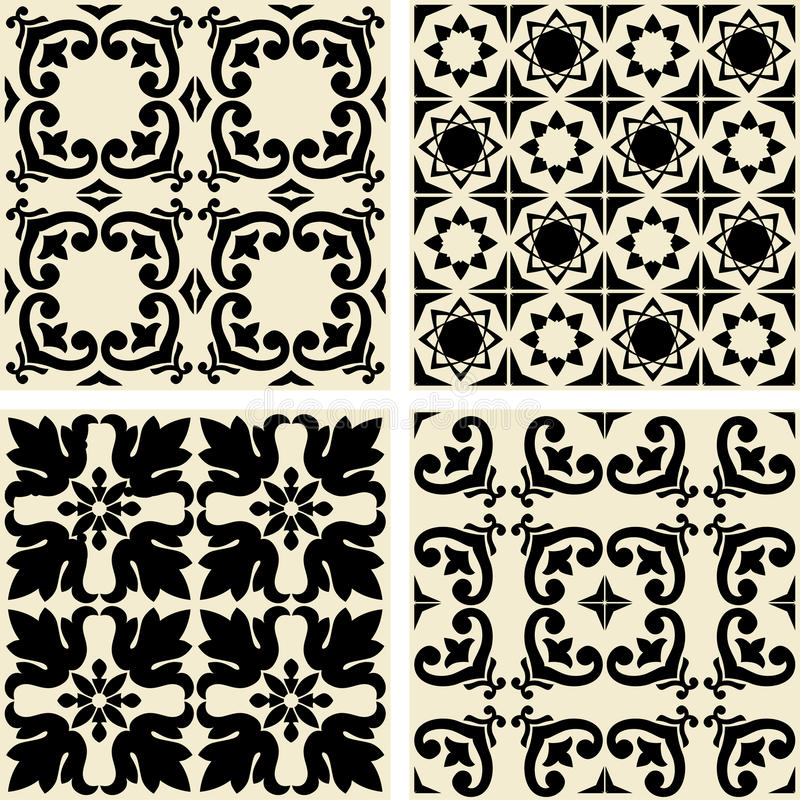 Ceramic tiles with seamless pattern - vector. Ceramic tiles with seamless pattern - 2D Vector vector illustration