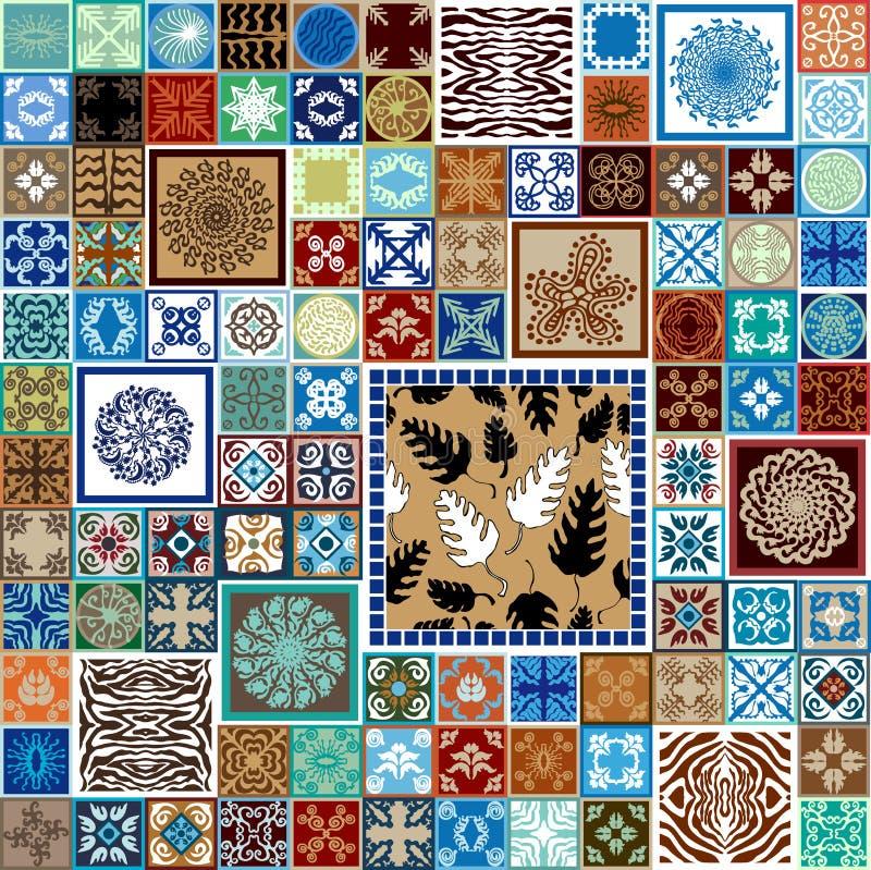 Ceramic tiles set. royalty free illustration