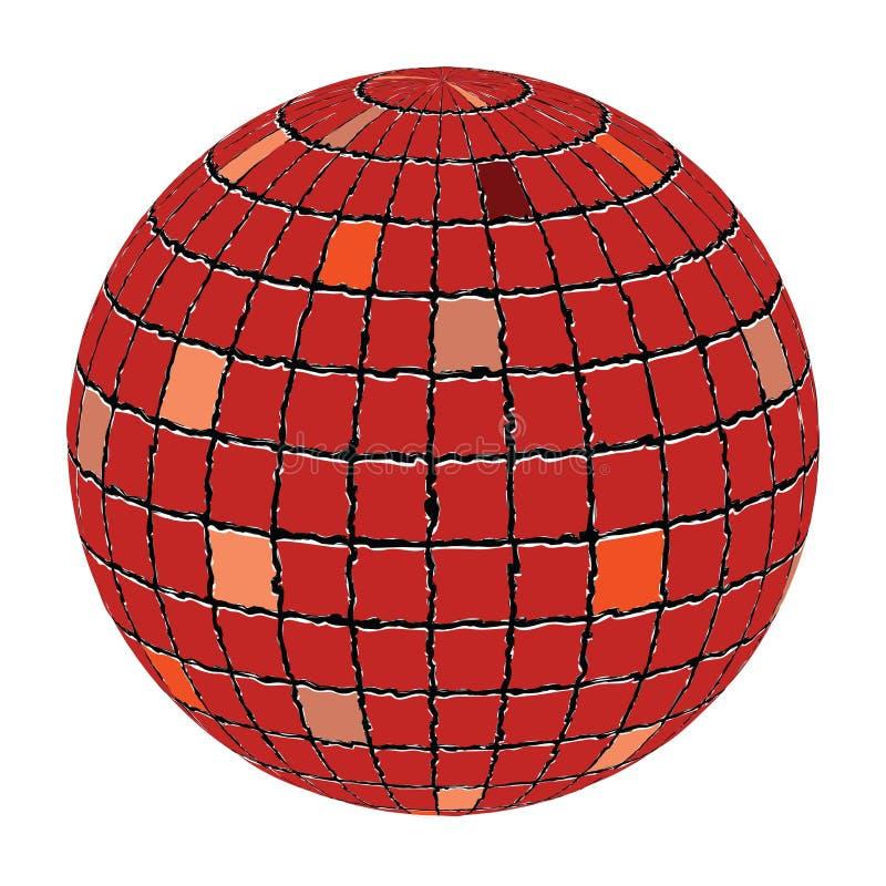 Ceramic tiles sphere. Against white background, abstract vector art illustration vector illustration