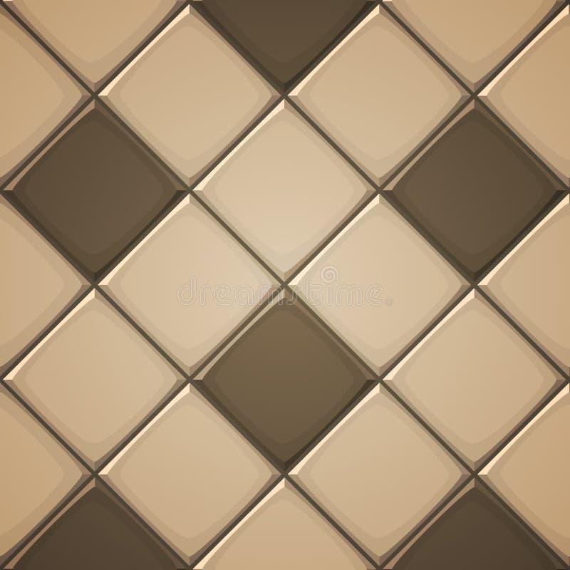 Ceramic Tiles. Vector illustration of vertical square brown ceramic tiles stock illustration