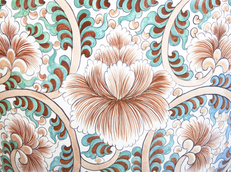 Ceramic wall flower. Textured pattern abstract background stock illustration